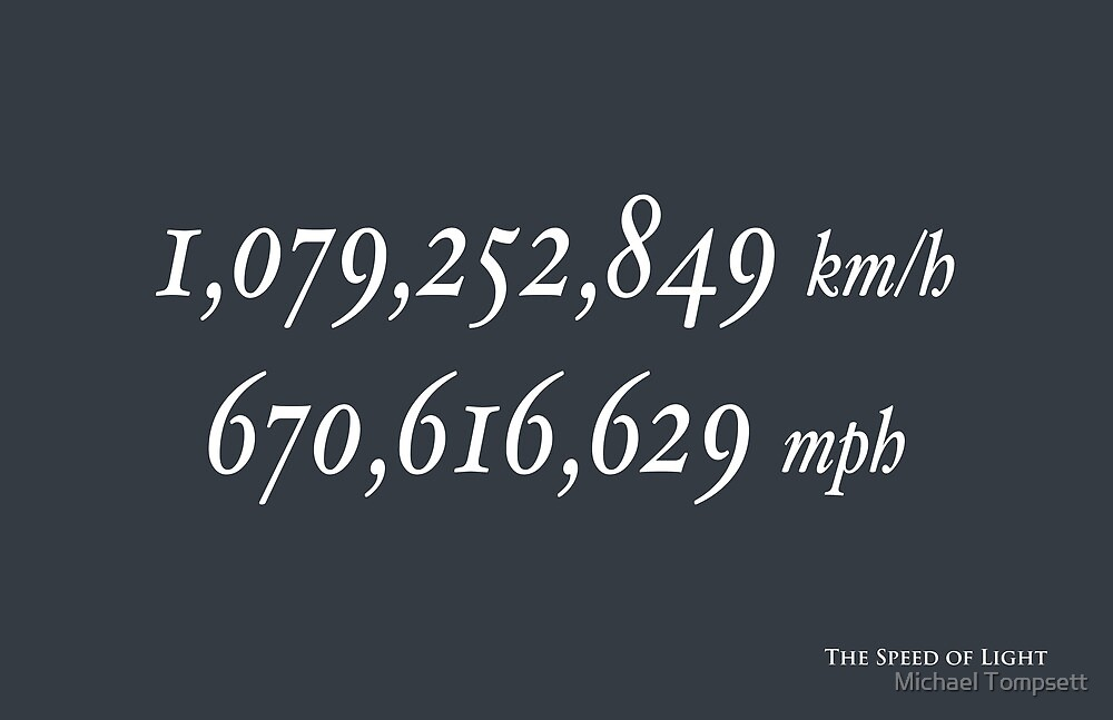 The Speed of Light by Michael Tompsett