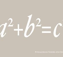 Pythagoras Maths Equation by ArtPrints