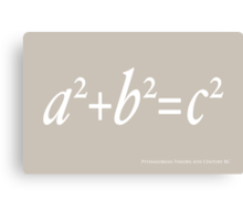 Pythagoras Maths Equation Canvas Print