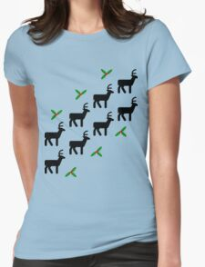 Reindeer Womens Fitted T-Shirt