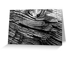 Woodstructure-30 BW Greeting Card