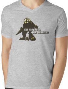 Bioshock: Are you there, Mr. Bubbles? Mens V-Neck T-Shirt