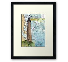 Currituck Beach Lighthouse NC Nautical Chart Cathy Peek Framed Print