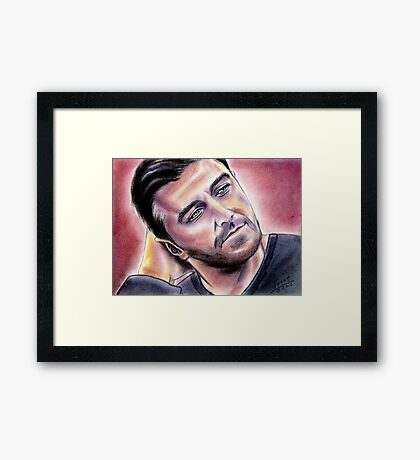 Richard Armitage, sensual Framed Print