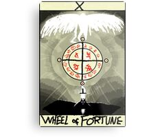 Tarot: The Wheel of Fortune Metal Print