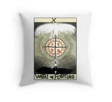 Tarot: The Wheel of Fortune Throw Pillow