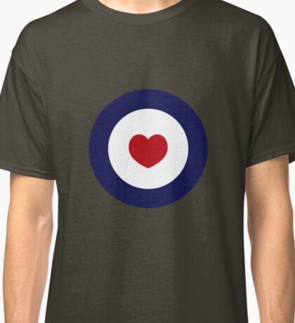 Mod Heart - Green Background Classic T-Shirt