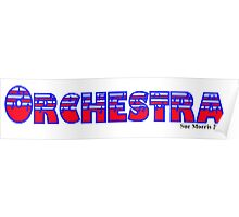 Orchestra Red White & Blue Poster