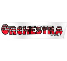 Orchestra Red Poster