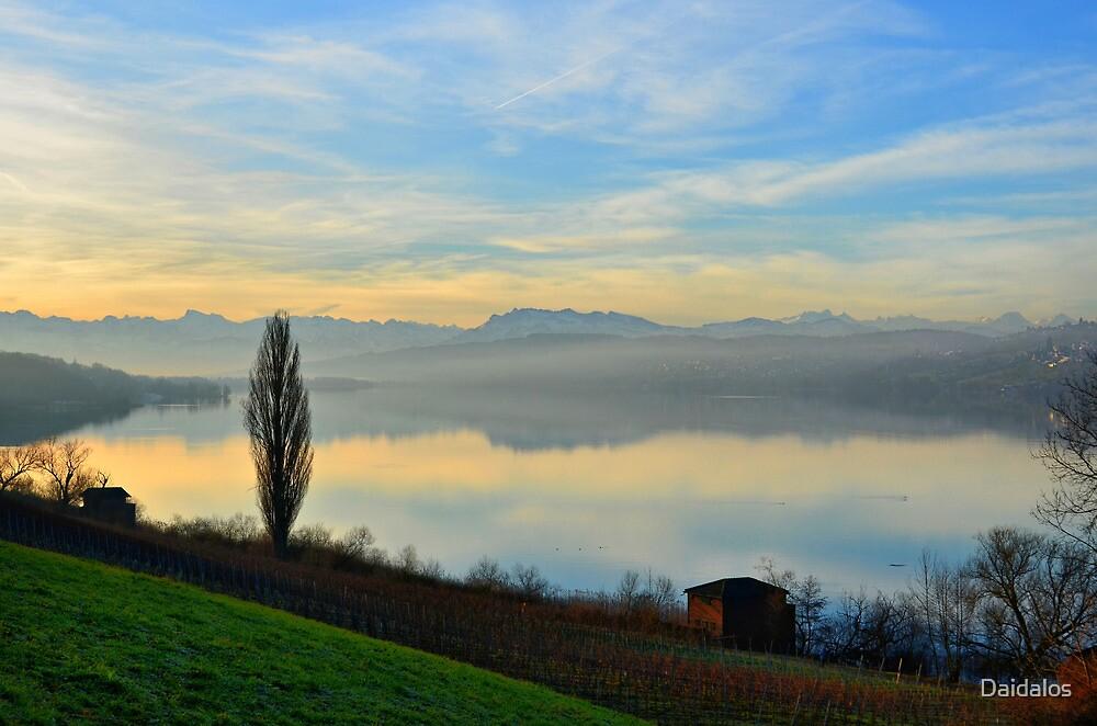 Lake at Dawn by Daidalos