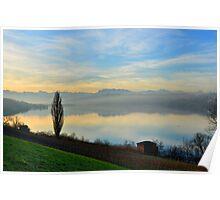 Lake at Dawn Poster