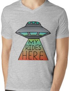 My Ride's Here Mens V-Neck T-Shirt