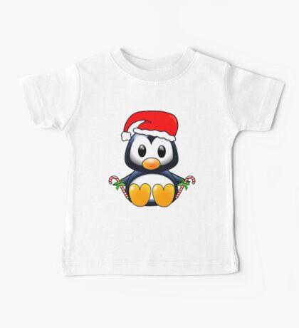 Cute Cartoon Christmas Penguin Baby Tee