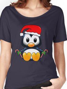 Cute Cartoon Christmas Penguin Women's Relaxed Fit T-Shirt
