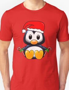 Cute Cartoon Christmas Penguin Unisex T-Shirt