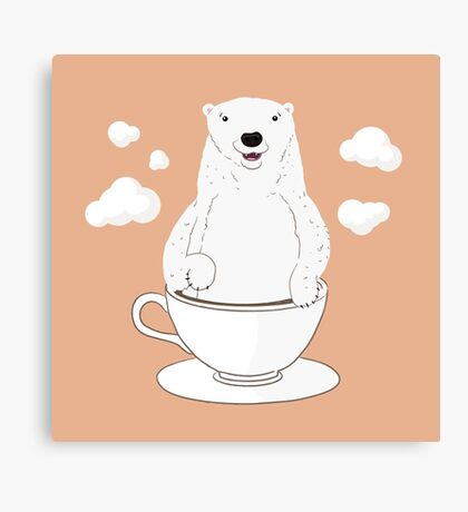 Take a Cup of Bear Canvas Print