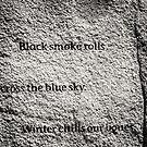 Black smoke rolls across the blue sky... by ZWC Photography
