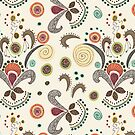 Wired Flower Pattern Greeting Card by Janet Antepara