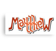 """Matthew"" Ambigram (reversible image) Canvas Print"