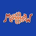 """""""Matthew"""" Ambigram (reversible image) by flatfrog00"""