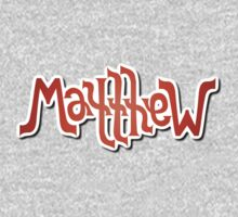 """Matthew"" Ambigram (reversible image) One Piece - Long Sleeve"