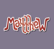 """""""Matthew"""" Ambigram (reversible image) Kids Tee"""