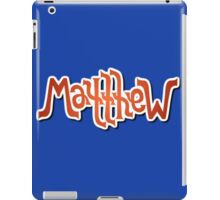 """Matthew"" Ambigram (reversible image) iPad Case/Skin"