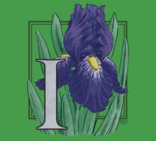 I is for Iris - patch Baby Tee