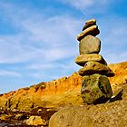 Stacking Rocks in San Diego, California by Jessica Karran