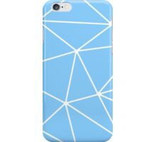 Blue Abstract Triangles iPhone Case/Skin
