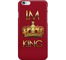 Royal king crown on red background iPhone Case/Skin