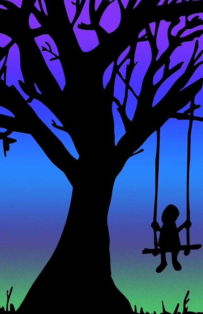 Tree With Swing by SarahBelham