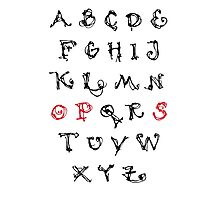 Alphabet OPS - Katharina Bloome Photographic Print