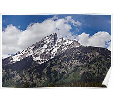 Grand Tetons Cloud Crown Poster