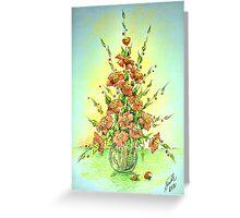Simple greeting - Flowers 1 Greeting Card