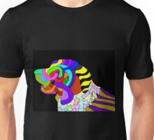 Abstract bright colorful dog  Unisex T-Shirt