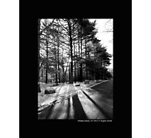 Winter Sun And Shadows On The Street - Middle Island, New York  Photographic Print
