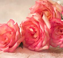 Rosy Elegance - Digital Watercolor  by Sandra Foster