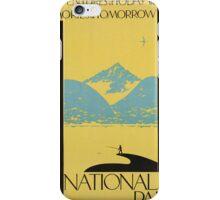 Vintage poster - National parks iPhone Case/Skin