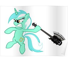 Lyra loves axe bass guitar Poster