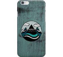 Adventure Moutain - Wood Blue iPhone Case/Skin