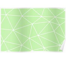 Green Abstract Triangles Poster