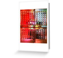 Technicolor Window Pains Greeting Card