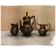 Antiques Oil Painting Poster