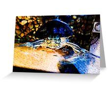 Neon Turtle Illuminated Greeting Card