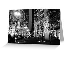 Black and White Lights Greeting Card