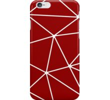 Bordeaux Abstract Triangles iPhone Case/Skin