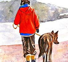 Boy and His Dog by Croftsie