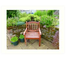 A Seat In The Herb Garden Art Print