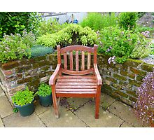 A Seat In The Herb Garden Photographic Print